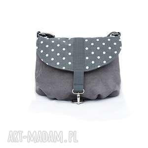 margaretsbags torebka na ramię z klapką w groszki, torebka, torba, na-ramię, wygodna