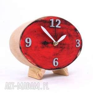 zegary zegar drewniany elipsa, biurkowy, prezent na święta