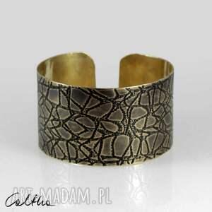 pajęczyna - mosiężna bransoleta 2108-01, bransoletka, metalowa