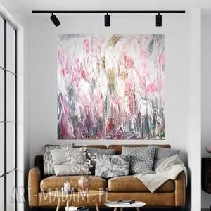abstrakcja obraz ręcznie malowany 120x120