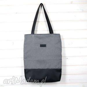 godeco klasyczna shopperka torba na ramię szara zapinana, torba, pojemna