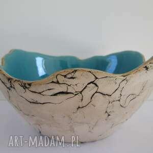 Sardynia turkusowa dekoracyjna miska m ceramika ana miska