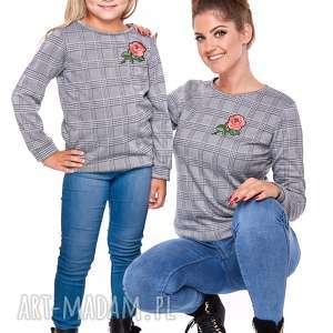 LATORI - MAMA I CÓRKA BLUZA DLA MAMY LM29, bluza, mama, córka, krata, sciągacz
