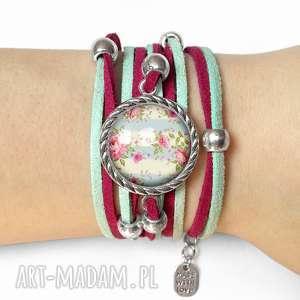 handmade bransoletki bransoletka retro róże