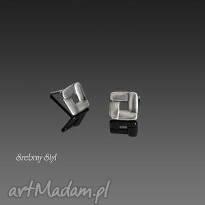 rombo - minimalistyczne, geometryczne, oksydowane, sztyfty, romby