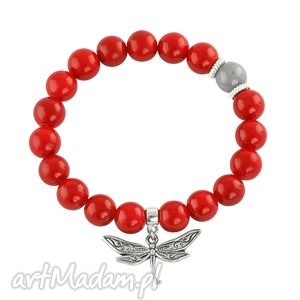 red & grey jade with dragonfly - jadeit