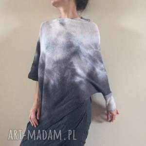 swetry elegancki asymetryczny sweter, wełna, bluzka, dzianina, asymetria