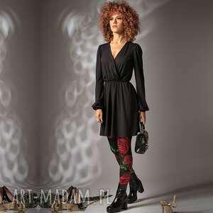 kate black night - sukienka w stylu vintage, mini, ponadczasowa, efektowna