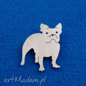 Prezent Broszka Buldog francuski pies nr.63, broszka, pies, buldog,