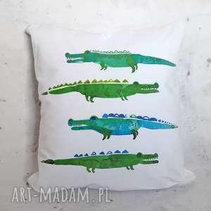 Poszewka na poduszkę bawełniana krokodyle 40 x 40, poszewka, poduszka,