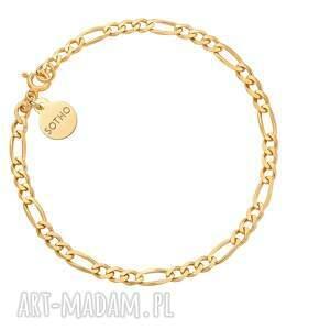 złota łańcuchowa bransoletka - łańcuszek, pozłacana