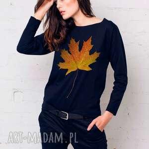 LIŚĆ Bluzka Oversize, oversize, bluzka, longsleeve, bawełna, moda, casual