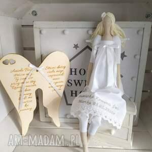 ręcznie robione lalki anioł pamiątka pierwszej komunii świętej chrztu