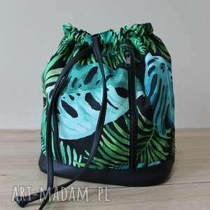 plecak worek torba - monstery, tropikalne liście, plecak