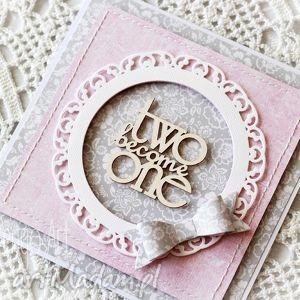 Kartka ślubna z kokardą, kartka, ślubna, gratulacje, kokarda, twobecomeone