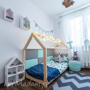 Łóżko domek dla dziecka 60x120, łóżeczko, łóżko, domek, drewniane, bed, dom