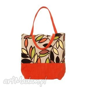 handmade na ramię 38 -0003 wielobarwna torebka ekologiczna zakupy shopper bag