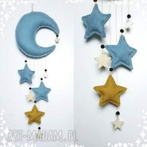 Zawieszka niebieski księżyc pokoik dziecka madika design księżyc
