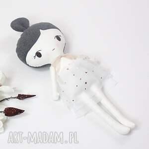 lalki lalka przytulanka zoja, 45 cm, biała lala, handmade