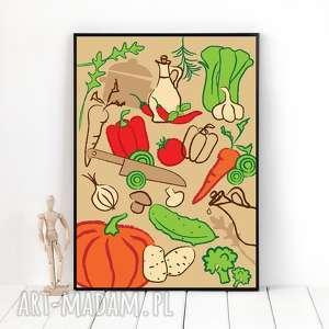 plakaty autorska grafika warzywa, format a3, plakat, grafika, ilustracja, warzywa