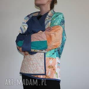płaszcz patchworkowy - waciak - płaszcz, bawełna patchwork boho, folk