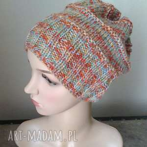 pastele z miętą czapka - czapka, rękodzieło, zima