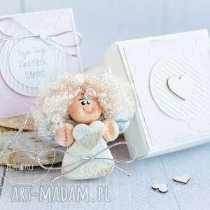 Twój aniołek stróż zestaw delikatny róż scrapbooking kartki