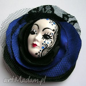 broszka z kolekcji masquerade - zamówienie specjalne - broszka, maska, wenecka