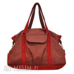 handmade podróżne 07-0001 bordowa torebka sportowa / torba fitness pigeon