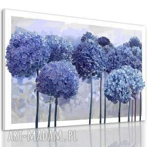 obraz do salonu drukowany na płótnie z kwiatami, kwiaty hortensji 120x80cm 0364