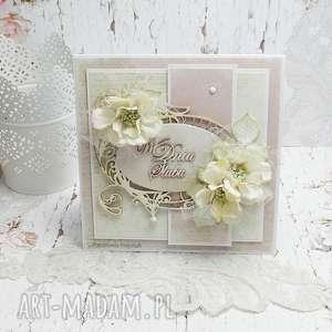 scrapbooking kartki w dniu ślubu - kartka z pudełkiem kś3, ślub, pudełko na ślub