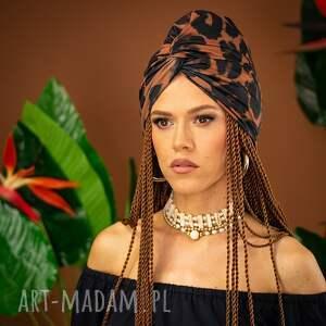 milita nikonorov turban - panterka, turban, kolorowy