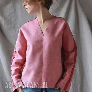 święta, bluza wełniana, wełna, ciepła, zimowa, luźna, minimalizm, łatki