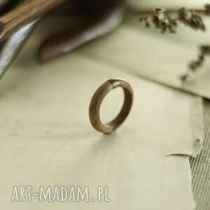 handmade obrączki obrączka z drewna tekowego