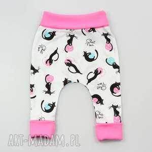 koty baggy dziecięce, pumpy, spodnie, dla dziewczynki, niemowląt, rozm 56-98