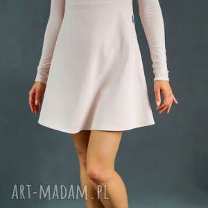 Sukienka dresowa Closhka długi rękaw pudrowy róż, sukienka-dresowa, dresowa, casual