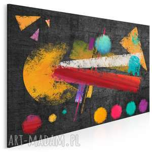 obraz na płótnie - abstrakcja geometria kolory 120x80 cm 20501, pacman