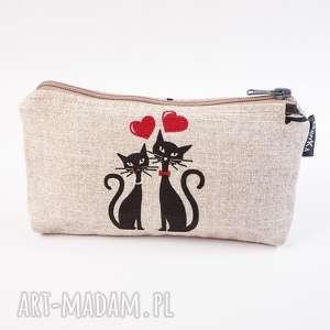 Miłość kocia, saszetka, kosmetyczka, koty, miłość, kotki