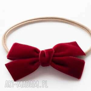 ręczne wykonanie pomysły na święta prezenty opaska do włosów velvet bow