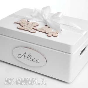 Prezent Pudełko na pamiątkę Kuferek wspomnień Skarby Roczek Urodziny Chrzest Baby