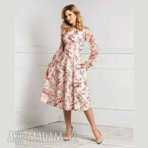 sukienka aniela total midi florence, midi, romantyczna