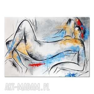 akt 3, matisse, abstrakcja, nowoczesny obraz ręcznie malowany, obraz