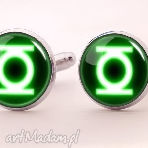 green lantern - spinki do mankietów - bohater, super, hero