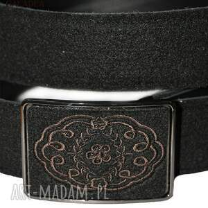 niesztampowe paski pasek haft koronki na klamrze filcowego
