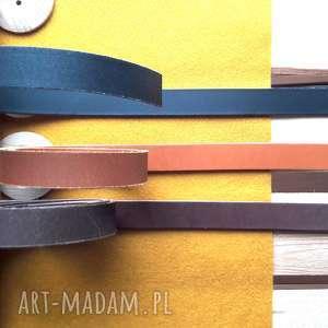 ręcznie wykonane paski pasek do torebki skorzany 2cm