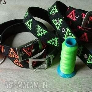 paski haft pasek wzór aztecki