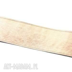 urokliwe paski skórzany pasek gorsetowy - różowe