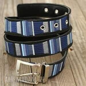 paski pasek stripes haftowany na filcu