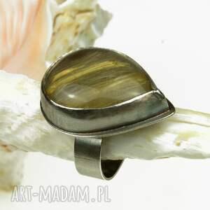 handmade pierścionki a470 pierścionek srebrny z kwarcem