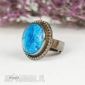 srebrny-pierścionek pierścionki turkusowe a600 srebrny pierścionek